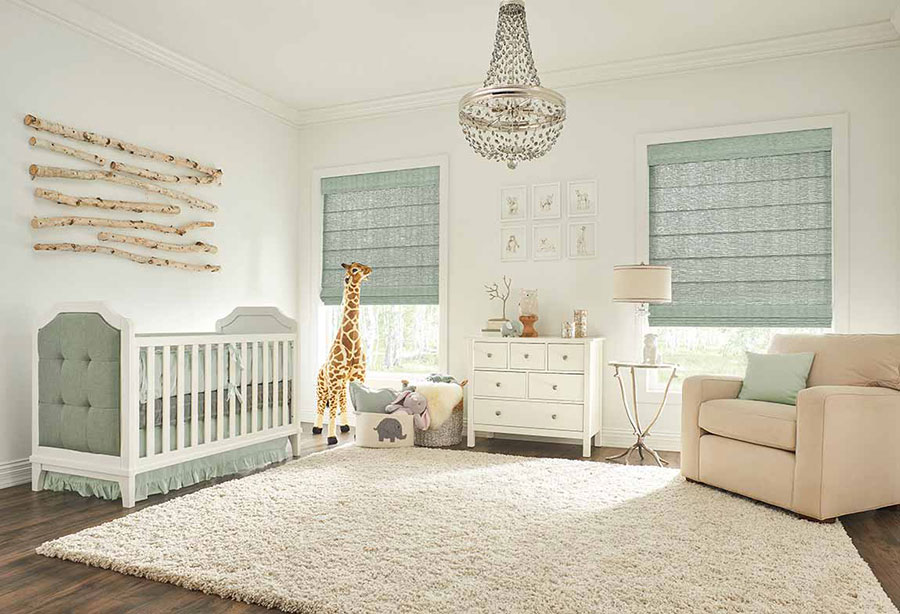 Nursery with a coastal inspired color palette